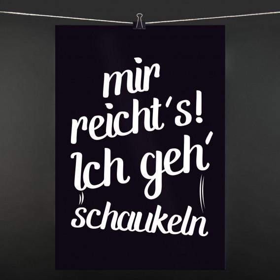 POSTER Schaukeln