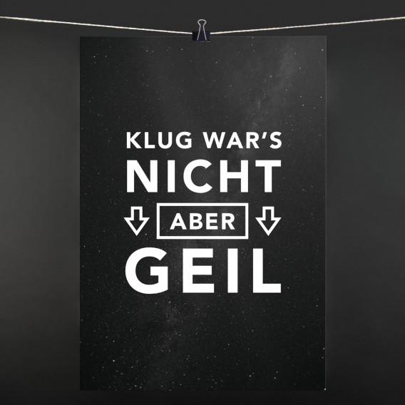 POSTER Klug wars nicht