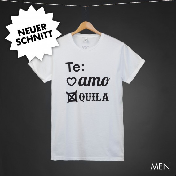 Shirt Te amo Tequila white men