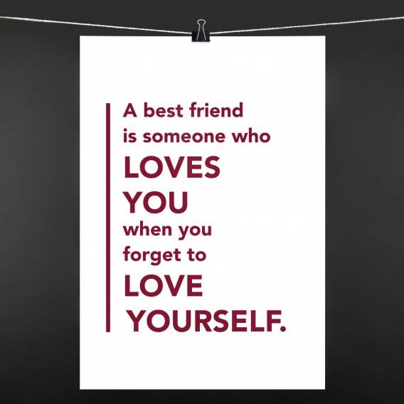 POSTER a best friend