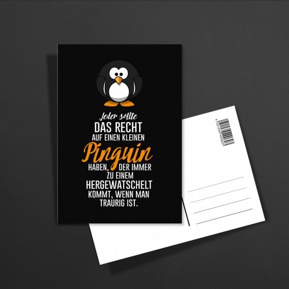POSTKARTE Kleiner Pinguin