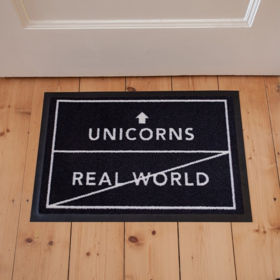 Fussmatte unicorns/real world