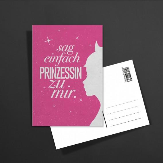 POSTKARTE Sag einfach Prinzessin
