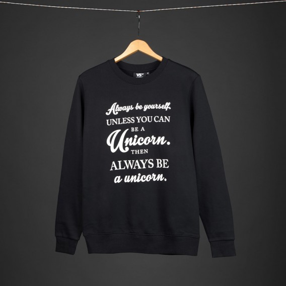 Sweater Always be yourself unless you can be a unicorn unisex sweater black