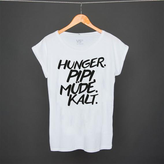 Shirt Hunger Pipi Müde Kalt white women