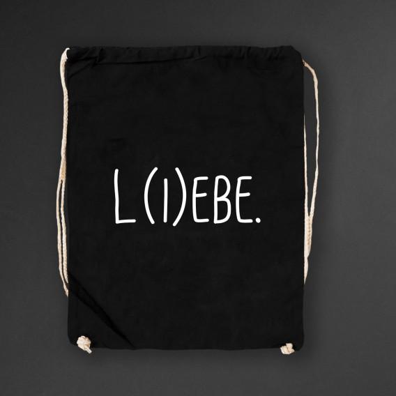 Turnbeutel L(i)ebe black