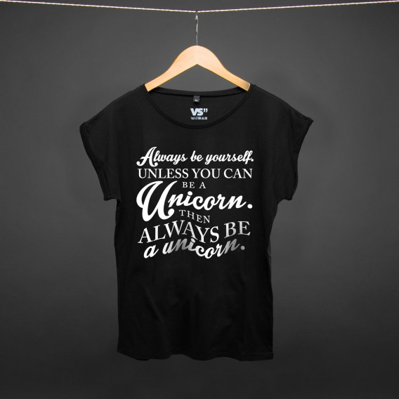 Shirt Always be yourself unless you can be a unicorn BLACK WOMEN
