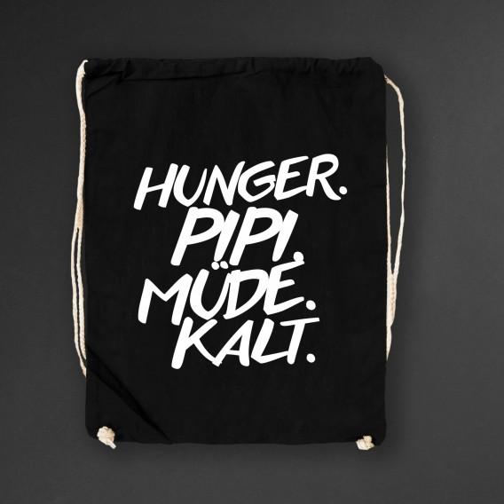 Turnbeutel Hunger Pipi black