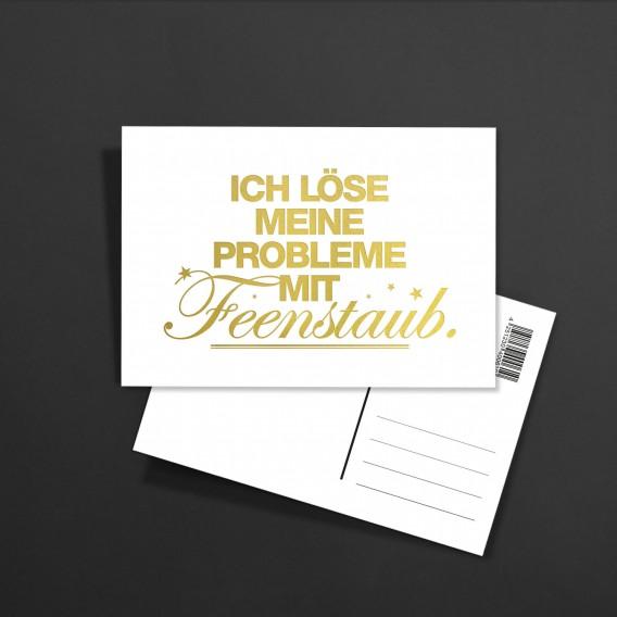 POSTKARTE Feenstaub GOLD