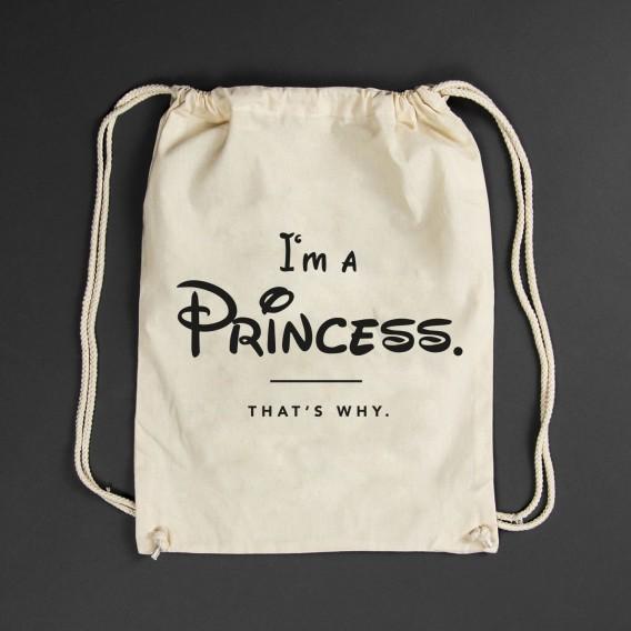 Turnbeutel i'm a princess white
