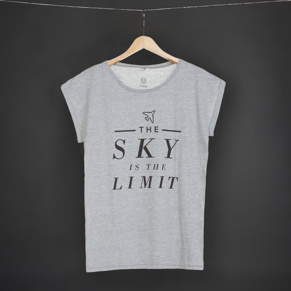 Shirt The sky is the limit grey WOMEN