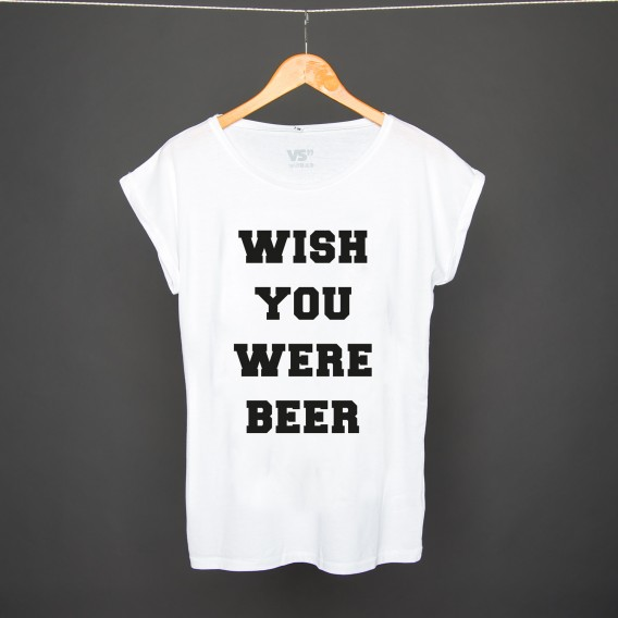 Shirt Wish you were beer WHITE WOMEN