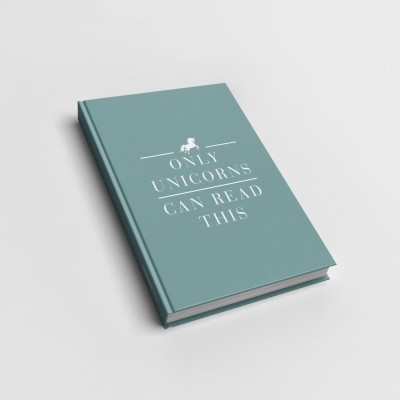 Only unicorns - Notizbuch