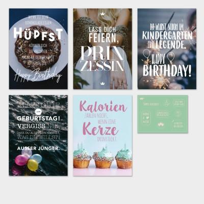 Geburtstag - Grußkarten-Set