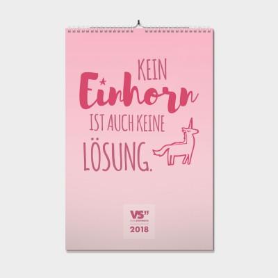 Einhornzauber / 2018 - Monatswandkalender