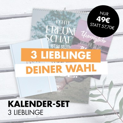 Kalender-Set: 3 Lieblinge