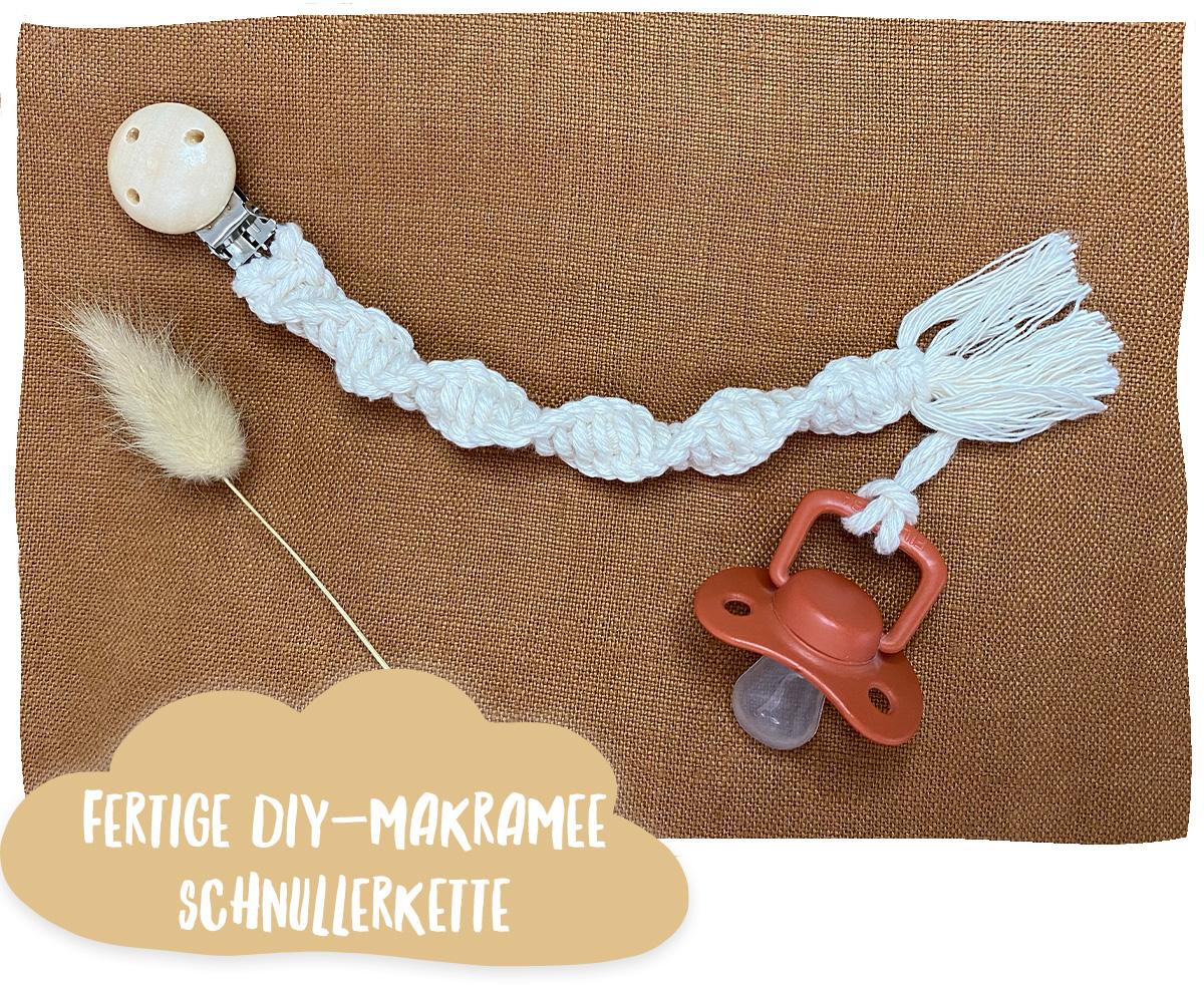 DIY Schnullerkette Makramee