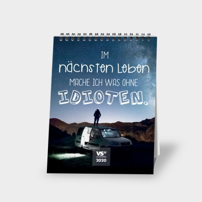 Monatstischkalender 2020 A5 - Fun