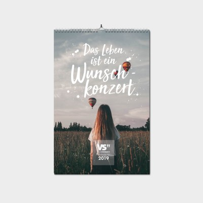 Das Leben ist ein Wunschkonzert A4 - Wochenwandkalender