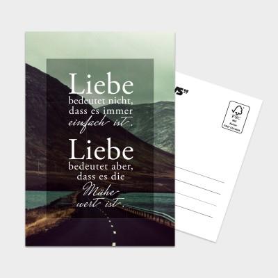 """Liebe - Postkarte von VS"""""""