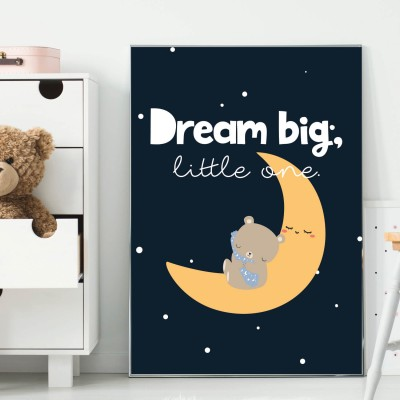 Dream Big, little One - Poster lalelove - Poster fürs Kinderzimmer