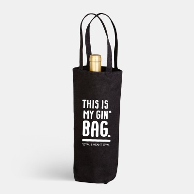 "Flaschenbeutel VS"" - This is my Gin* Bag"