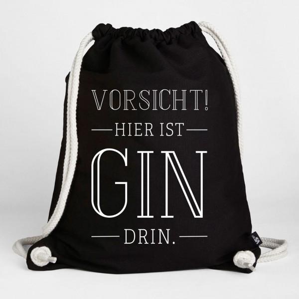 Vorsicht! Hier ist Gin drin - Turnbeutel