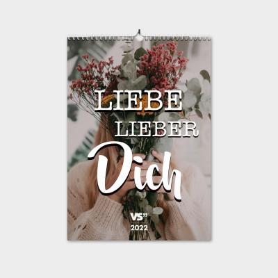 """Lieber lieber dich - Monatswandkalender 2022 von VS"""" - Kalender 2022 mit schönen Sprüchen"""