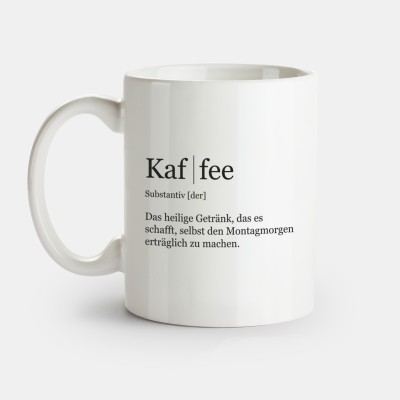 """Tasse mit der Definition von Kaffee - Tasse von VS"""""""