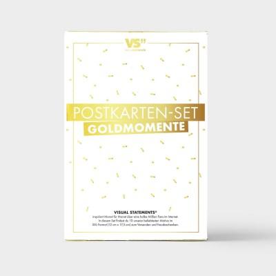 10er GOLDMOMENTE Postkarten-Set
