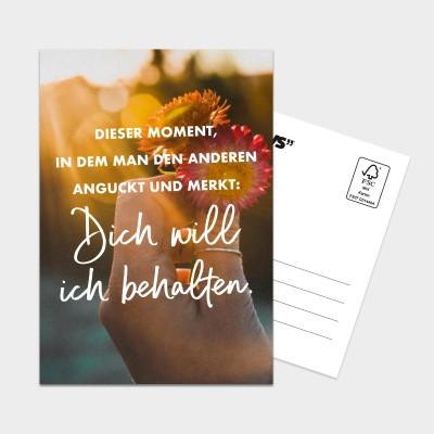 Dich will ich behalten - Postkarte