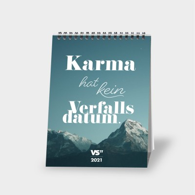 """Karma - Monatstischkalender 2021 - A5 - Kalender von VS"""""""