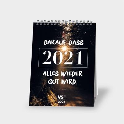 "Neuanfang - VS"" Monatstischkalender A5 2021"