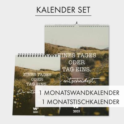 Kalender Set - Monatswandkalender und Monatstischkalender
