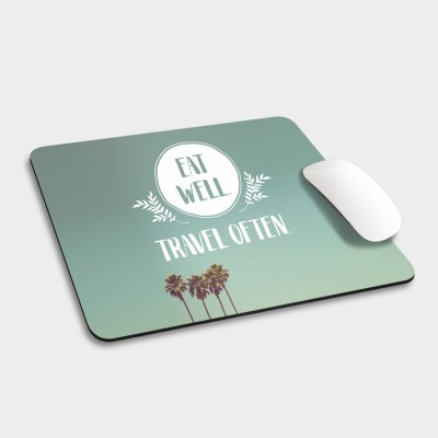 Eat well, travel often - Mousepad