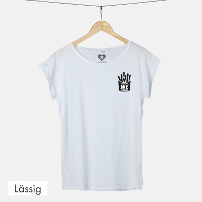 Lässiges T-Shirt - There's no We in Fries