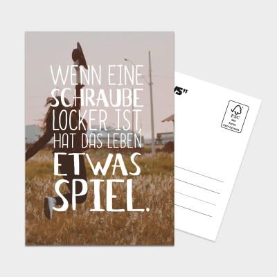Schraube locker - Postkarte