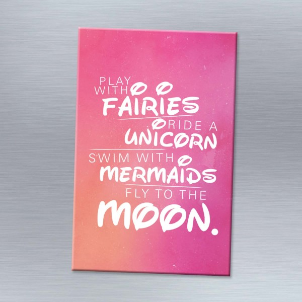 Play with fairies - Magnet