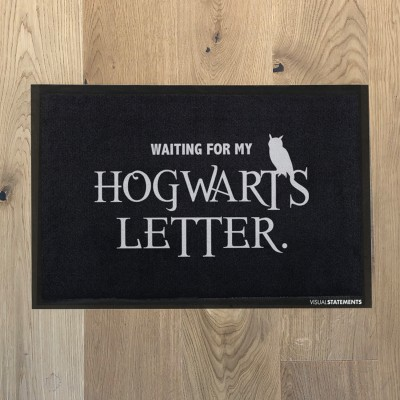 "Visualstatements Fußabtreter ""Waiting for my Hogwarts Letter"""