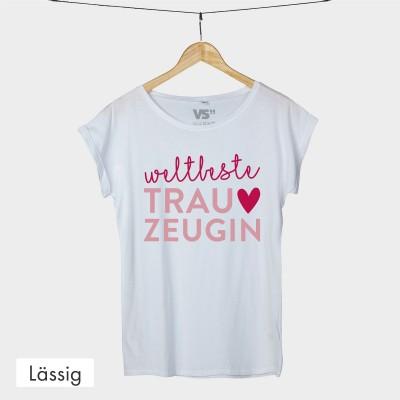 Lässiges T-Shirt - Weltbeste Trauzeugin
