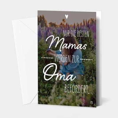 """Nur die besten Mamas - Grußkarte von VS"""""""