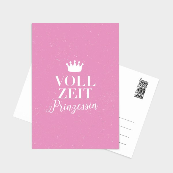 Vollzeitprinzessin - Postkarte