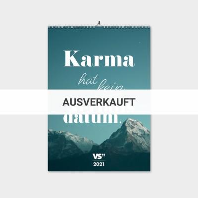 Karma - Monatswandkalender 2021 A3