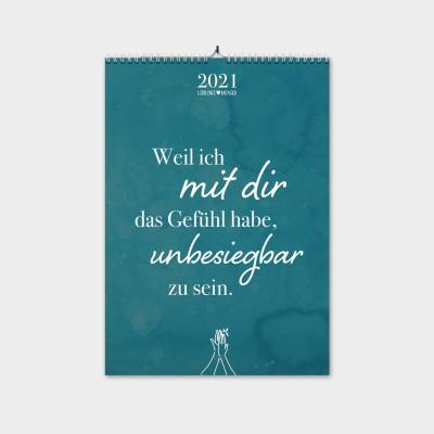 Liebe - Monatswandkalender 2021 - Kalender von Lieblingsmensch