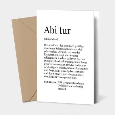Abitur Grußkarte - Glückwunschkarte Abitur