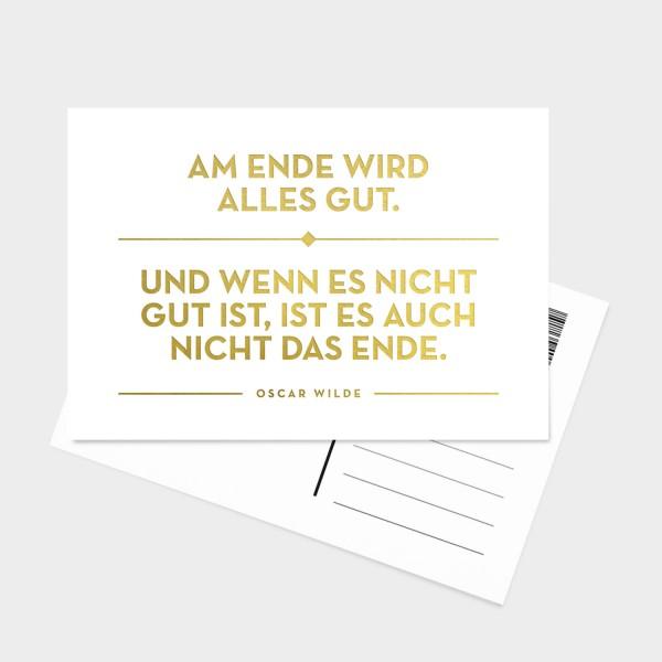 Am Ende Gold - Postkarte