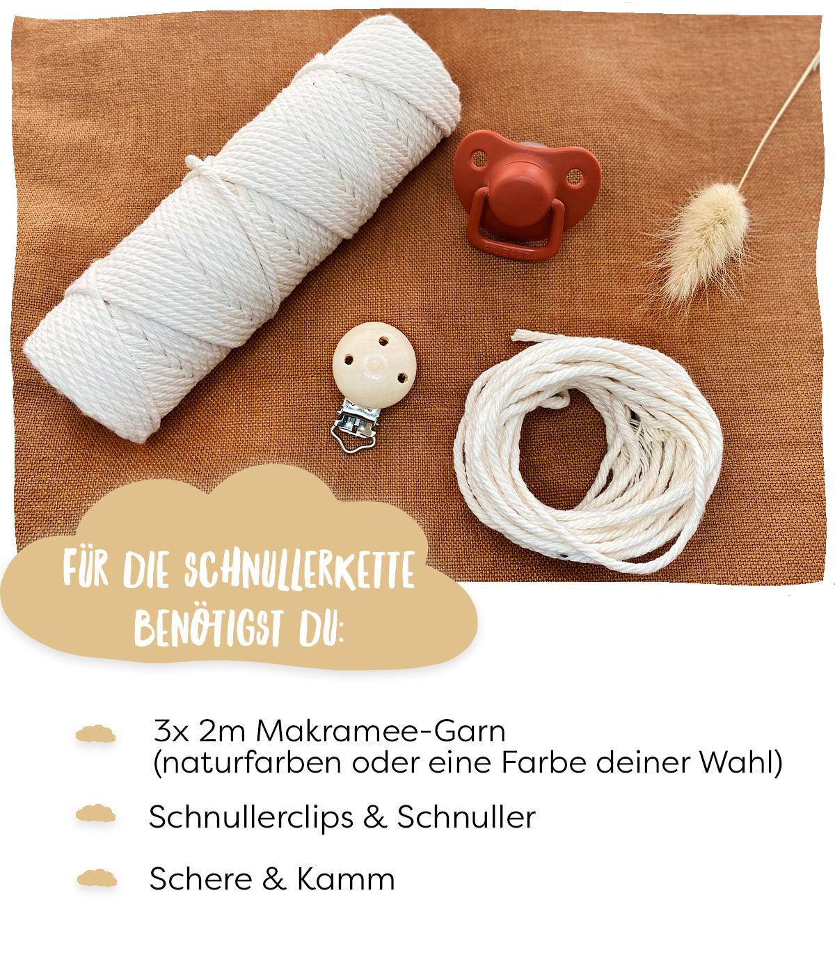 Material DIY Schnullerkette
