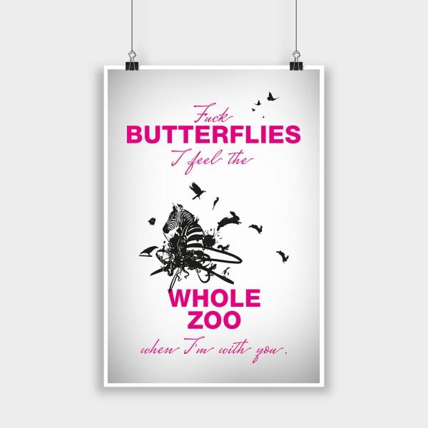 Fuck butterflies - Poster