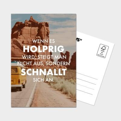 Holprig - Postkarte