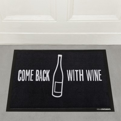 Come back with wine - Fußmatte